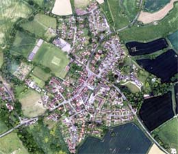 Barcombe from the air